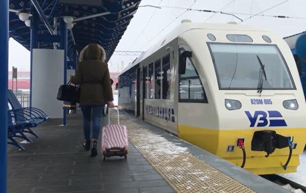 """Поезд """"Киев-Борисполь-Аэропорт"""". Фото: скриншот Youtube-видео"""