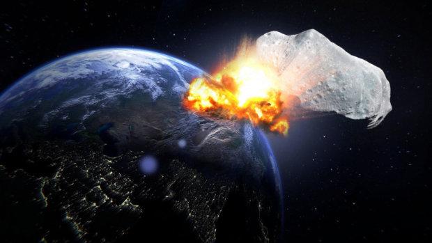 В сети показали падение 500-километрового астероида на Землю: видео