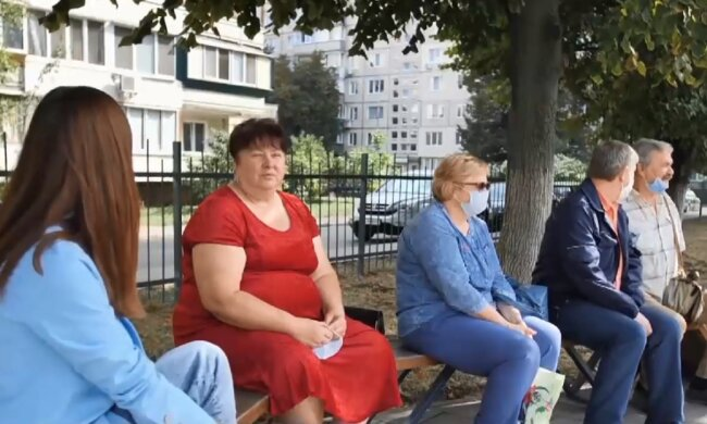 Украинские пенсионеры. Фото: скриншот YouTube-видео
