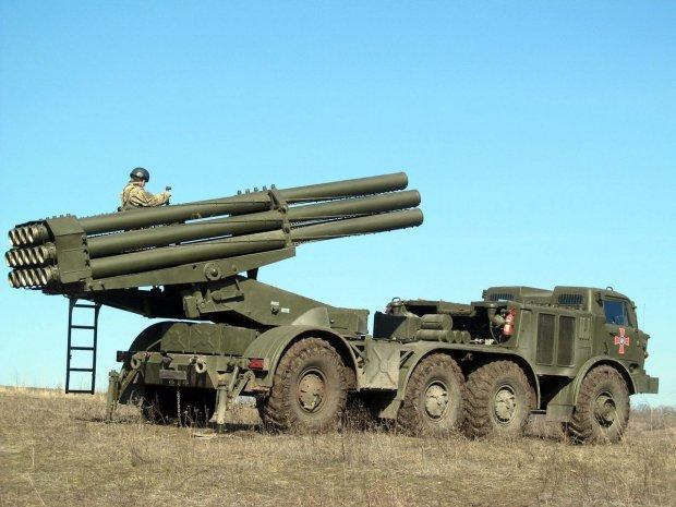 Украиснкие военные испытали «Ураган» на берегу Азовского моря