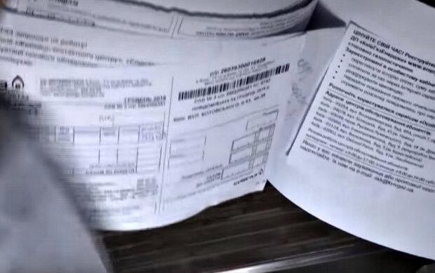 Счета за газ. Фото: скриншот YouTube-видео.