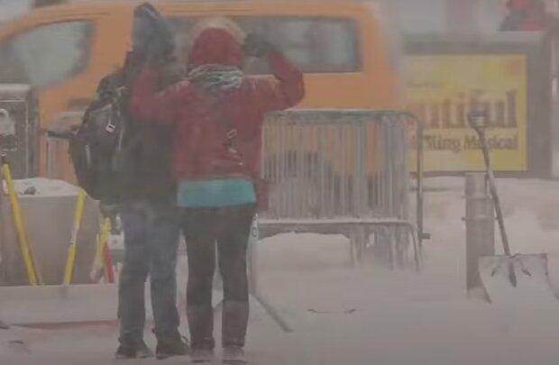 Снегопад в США. Фото: скриншот YouTube-видео