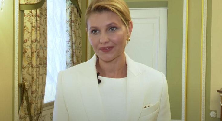 Елена Зеленская. Фото: скриншот YouTube-видео.