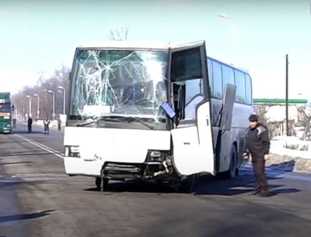 Автобус ДТП. Фото: скриншот YouTube.