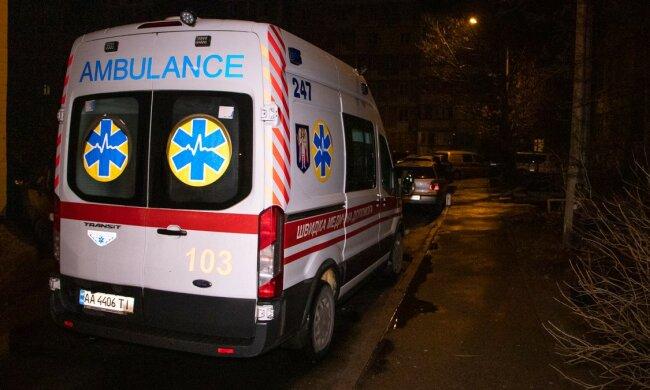 Под Киевом женщину ранили из стрелы, еле стояла на ногах