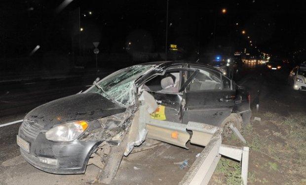 В Киеве инструктор по вождению устроил крупную аварию