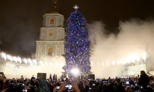 Украина впечатлила Европу новогодней елкой