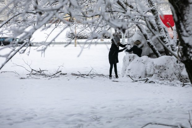 Украину засыпает снегом: без лопаты не пройти, фото и видео аномалии