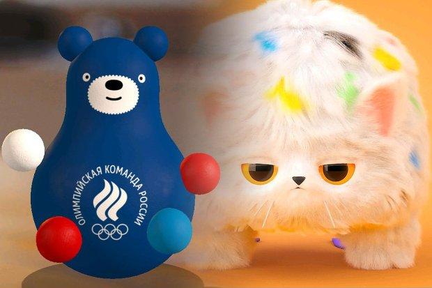 «Медведь-клизма и кот в шоке»: в России представили олимпийские талисманы