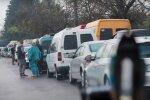 Очередь на границе. Фото: скриншот YouTube-видео.