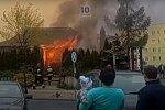 Пожар в Польше. Фото: скриншот YouTube