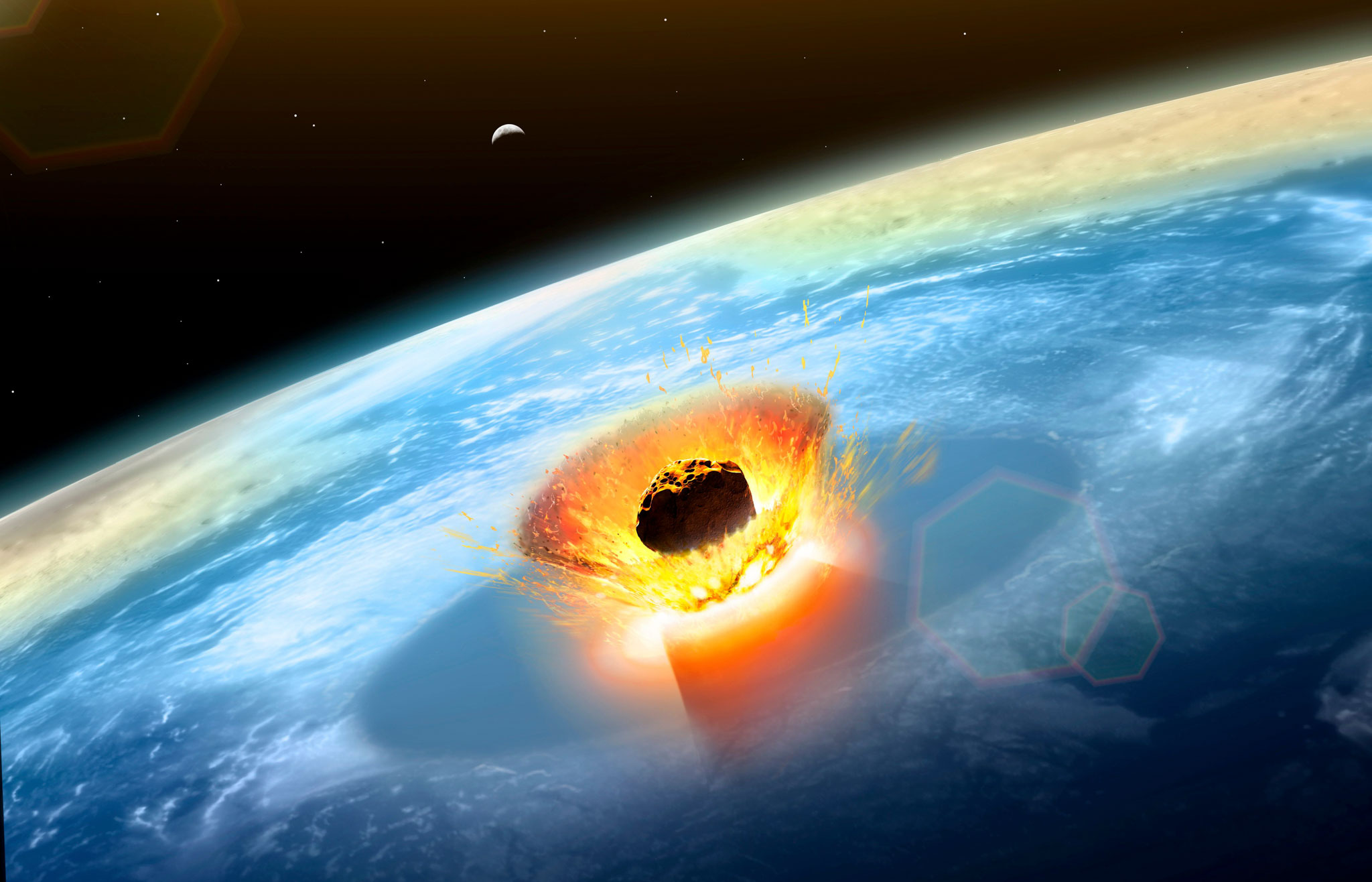 asteroids earth collision - HD 2048×1316