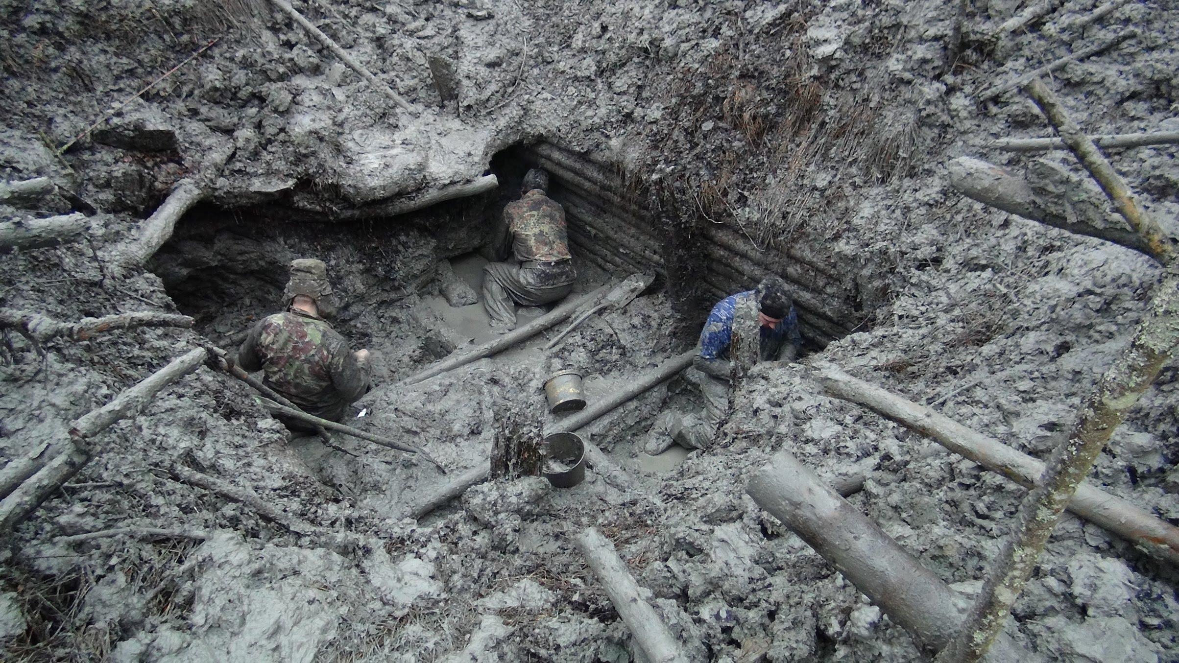 Находки в военных окопах фотографии