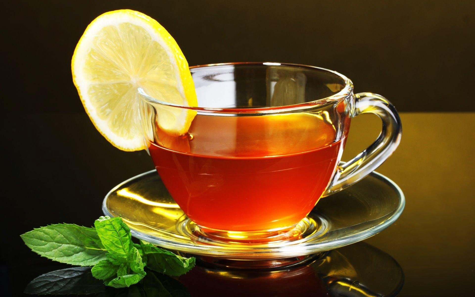 Флеш, чай с лимоном открытка