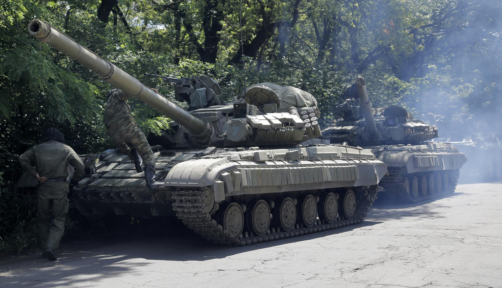 фото танков донбасс